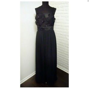 Max and Cleo BCBG Black Evening Gown